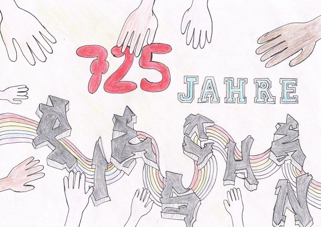 Malwettbewerb 11-17 Alle zusammen - 725 Jahre Pieschen