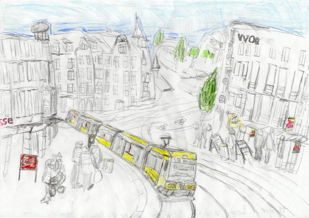 Malwettbewerb 11-17 Straßenbahn in Altpieschen