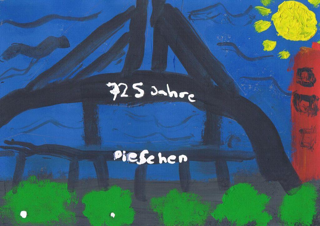 Malwettbewerb 6-10 Die Fahrradbrücke