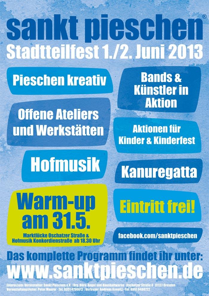 Plakat Stadtteilfest sankt pieschen 2013