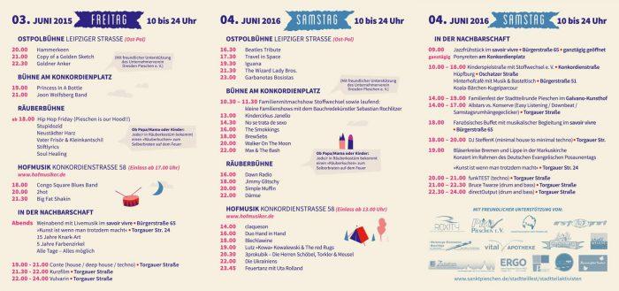 Flyer für das Stadtteilfest sankt pieschen 2016 Rückseite
