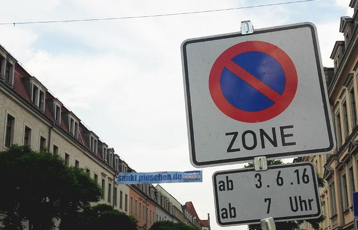 Parkverbot in der Oschatzer Straße