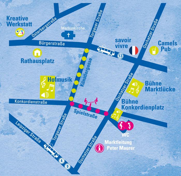 Übersichtsplan Stadtteilfest sankt pieschen 2013