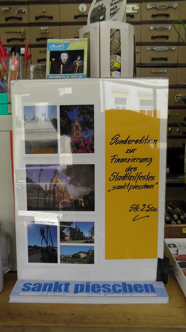 Postkarten zur Finanzierung des Stadtteilfestes