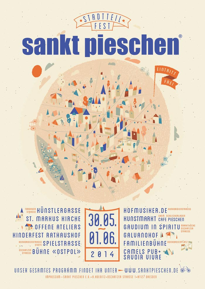 Plakat Stadtteilfest sankt pieschen 2014