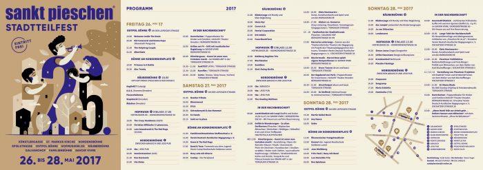 sankt pieschen Stadtteilfest 2017 Flyer