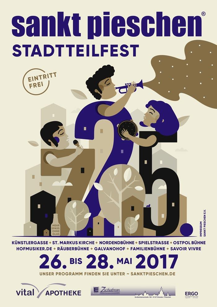 sankt pieschen Stadtteilfest 2017 Plakat